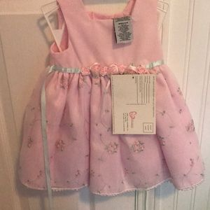 Baby pink embroidered dress